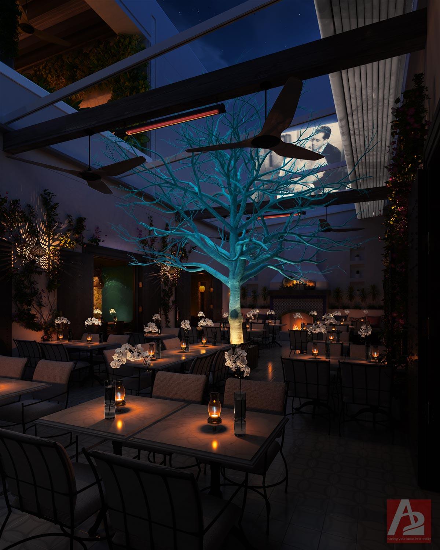 Latin Restaurant Courtyard Dallas TX