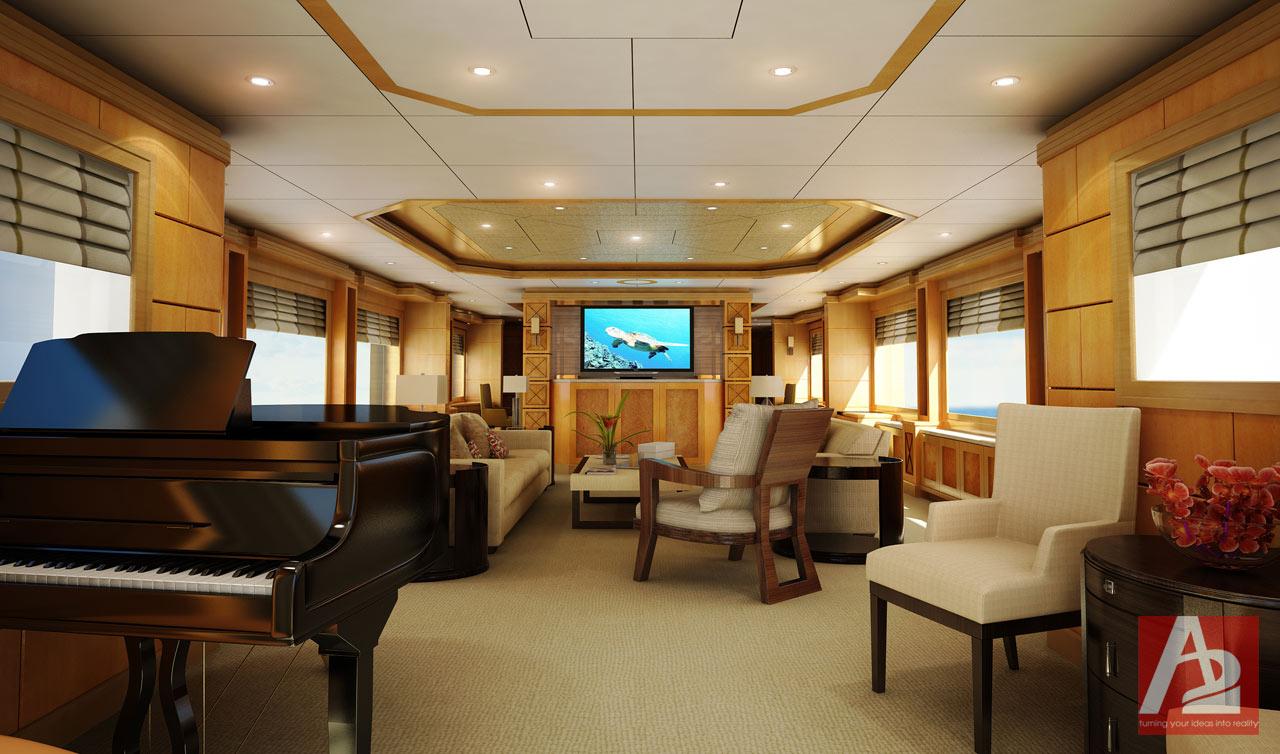 Main Salon Yacht Miami