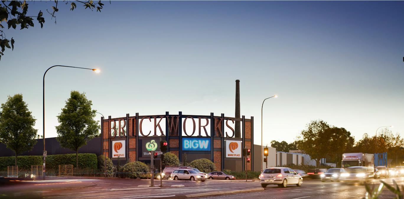 Brickworks Mall in Australia